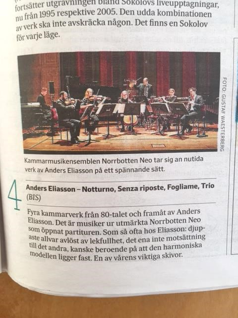Recension av CD av ensemblen Norrbotten NEO